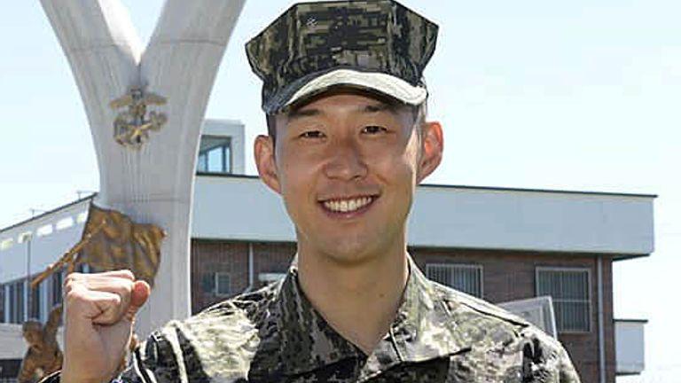 ซนฮงมินเกณฑ์ทหาร